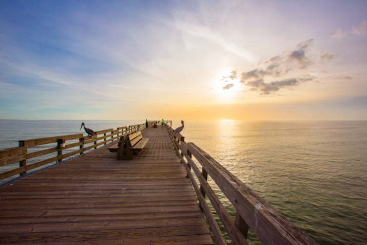 The perfect spot for a stroll, fishing, or watching the sunset over the Gulf of Mexico.