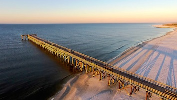Mexico Beach Florida pier and beach