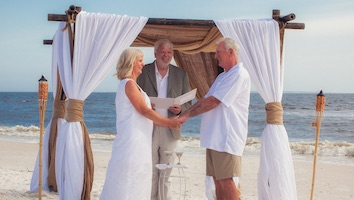 Vow Renewal in Mexico Beach Florida
