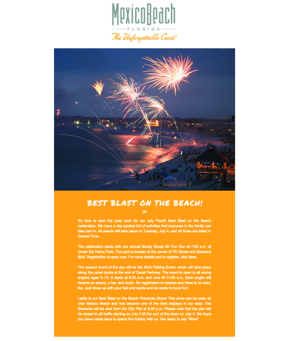 Mexico Beach, Florida - June 2017 Newsletter Feature