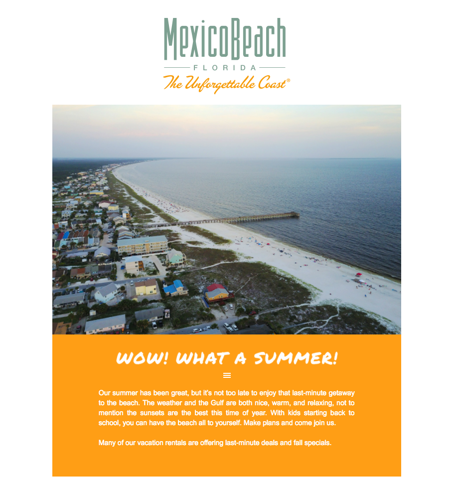Mexico Beach, Florida - August 2017 Newsletter Feature