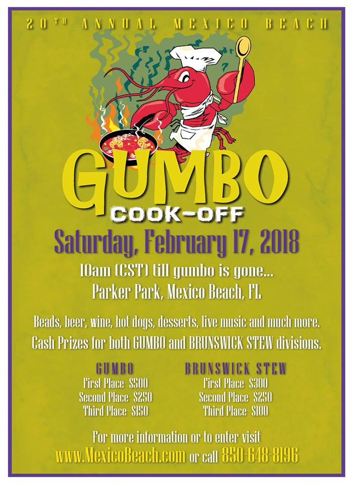 Mexico Beach Gumbo Cook-Off 2018 February Event
