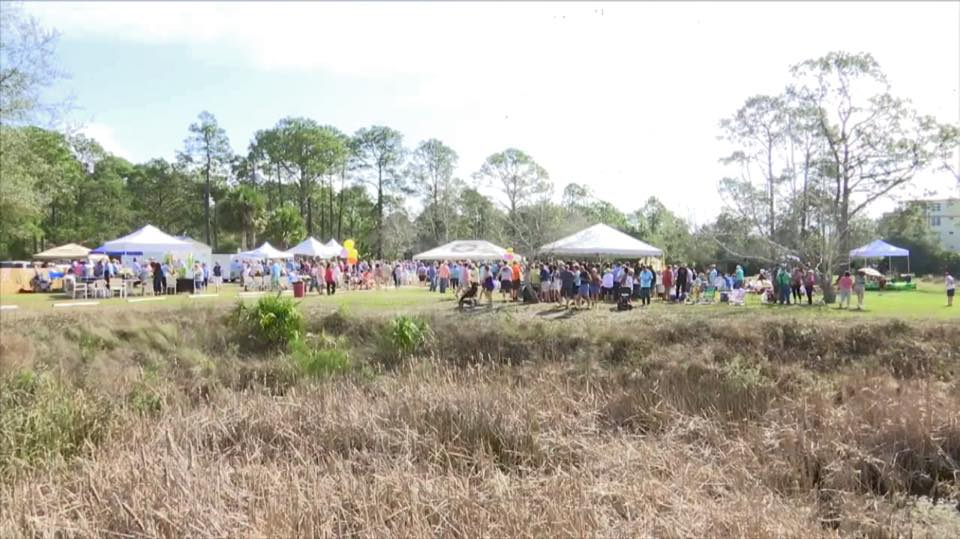 2018 gumbo cook-off in Mexico Beach, Florida, at Parker Park