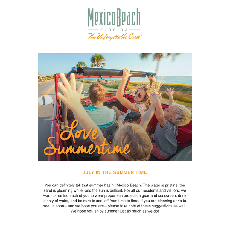 Mexico Beach Florida - July 2018 eNewsletter