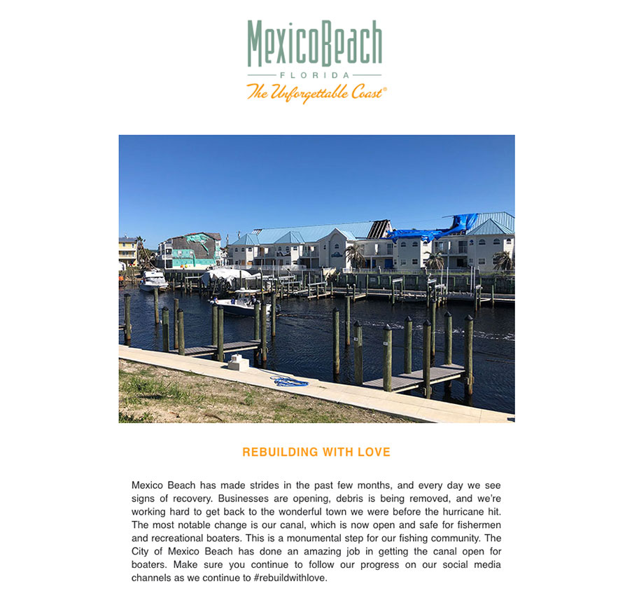 Mexico Beach Florida - May 2019 eNewsletter