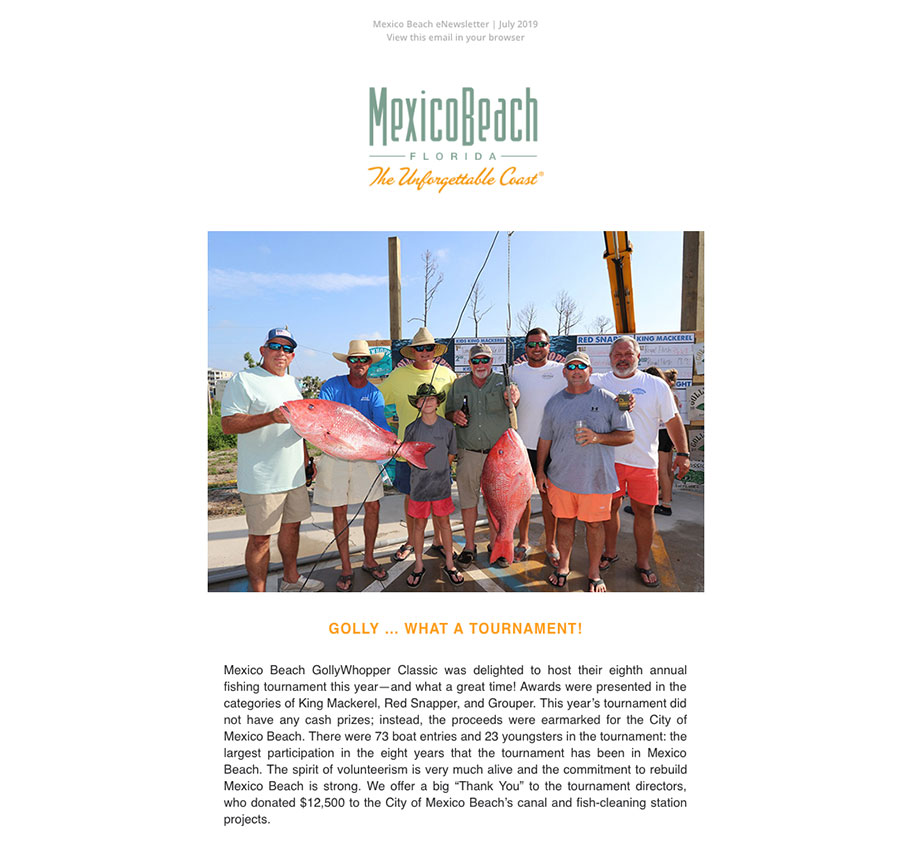 Mexico Beach Florida - July 2019 eNewsletter