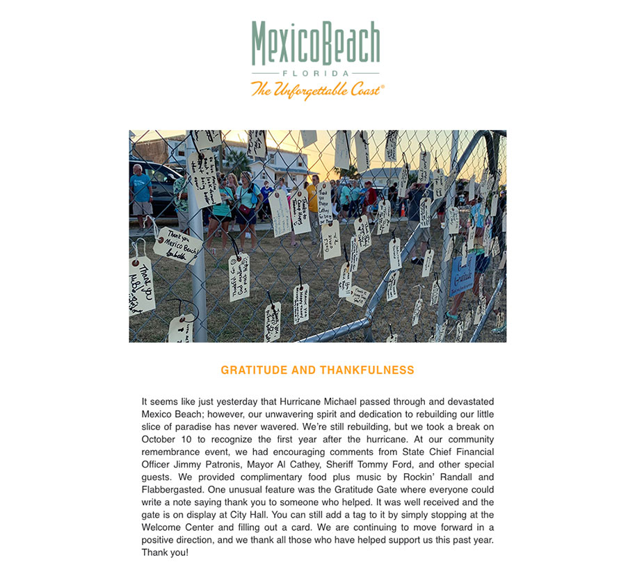 Mexico Beach Florida - November 2019 eNewsletter