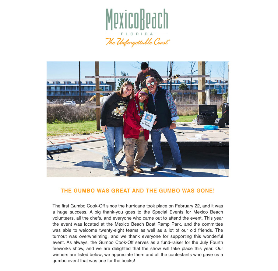 Mexico Beach Florida - March 2020 eNewsletter