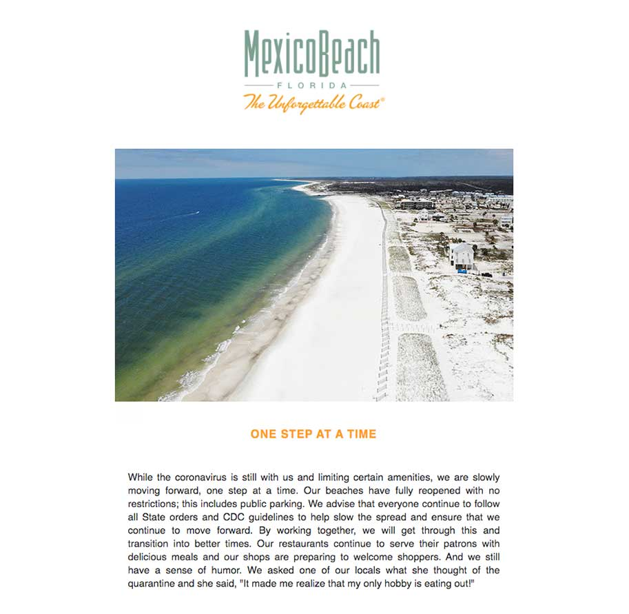 Mexico Beach Florida - May 2020 eNewsletter