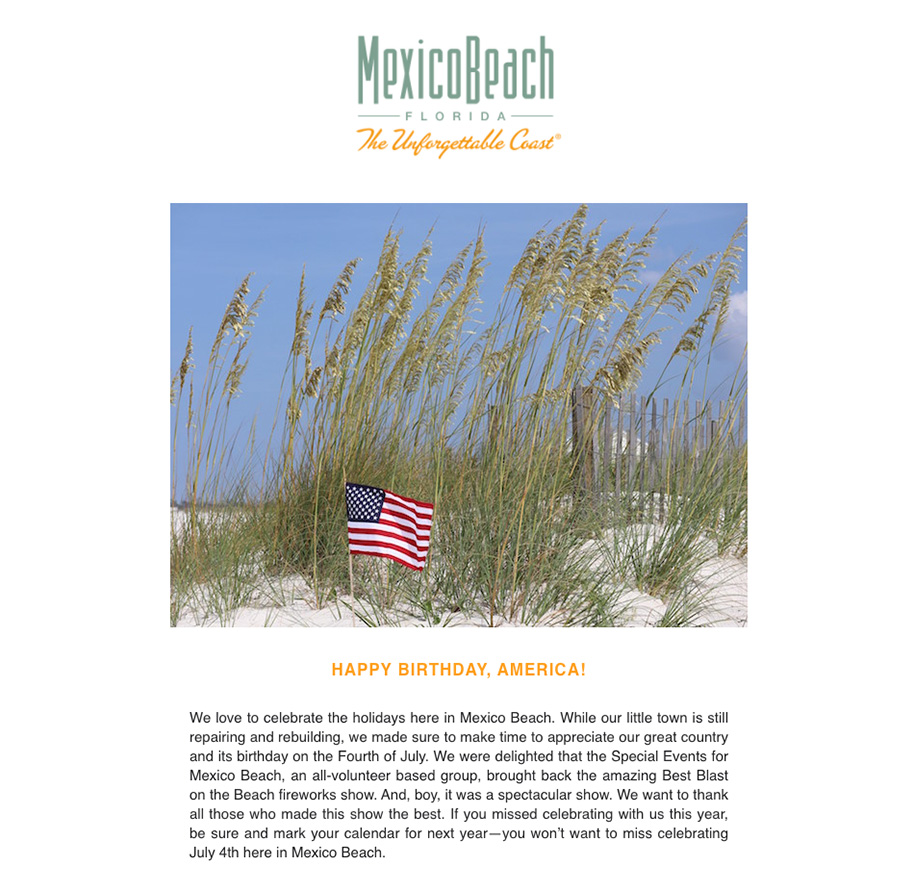 Mexico Beach Florida - July 2020 eNewsletter